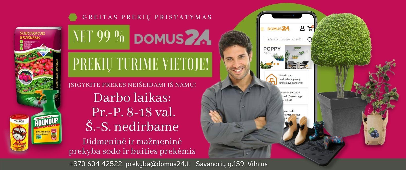 DOMUS24 darbo laikas